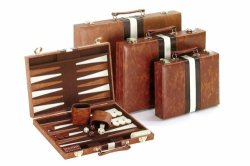 Classic Brown & White Backgammon Set - Boardgame