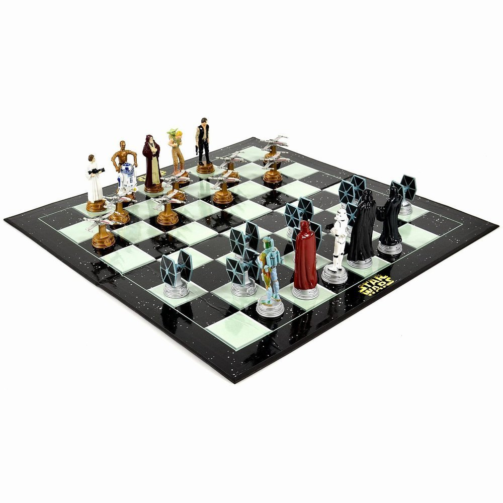 star wars chess set chess game board with star wars. Black Bedroom Furniture Sets. Home Design Ideas