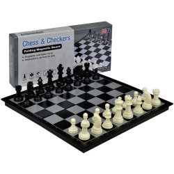 2 in 1 Travel Magnetic Chess and Checkers Set