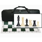 Wood Expressions Tournament Chess Set and Black Canvas Bag