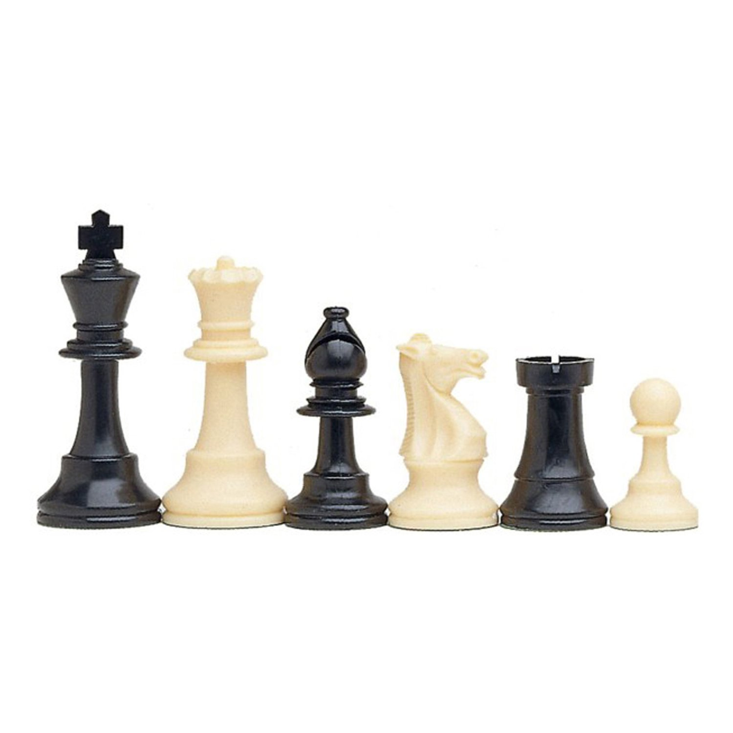 Tournament Chess Set Filled Chess Pieces And Black Roll