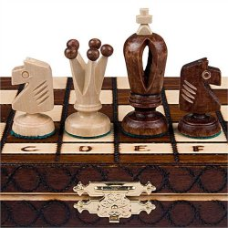 Chess Set – Royal 30 European Wooden Handmade International Chess Set – 11-3/4″ x 11-3/4″