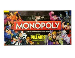 Monopoly Disney Game Villains Edition Boardgame