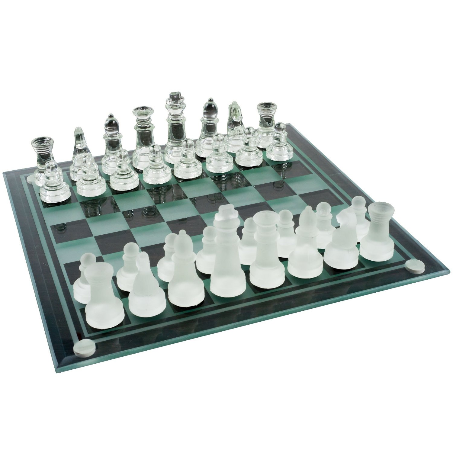 Elegant Glass Chess And Checker Board Set Board Games