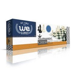 Tournament Chess Set – Filled Chess Pieces and Black Roll-Up Vinyl Chess Board