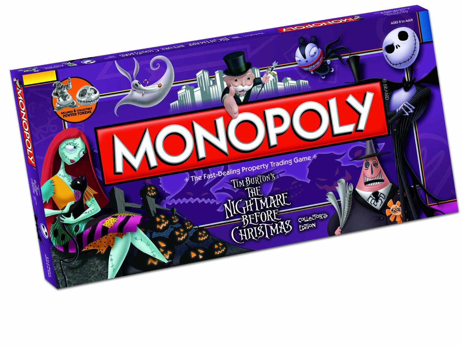 monopoly the nightmare before christmas collectors edition boardgame - The Nightmare Before Christmas Games