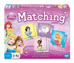 Disney Games: Princess Matching Board Game