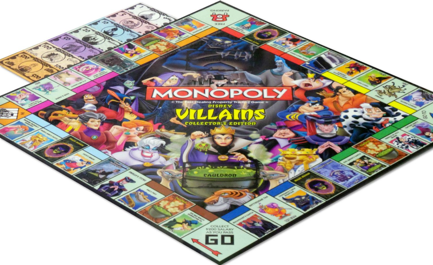 Monopoly disney edition board game replacement board and rule book.