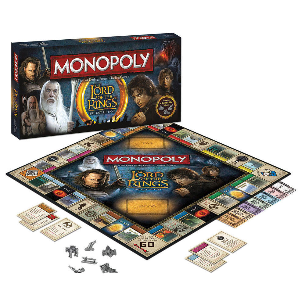 Monopoly Lord Of The Rings Trilogy Edition