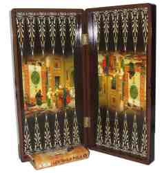 Persian design backgammon and chess set - boardgame